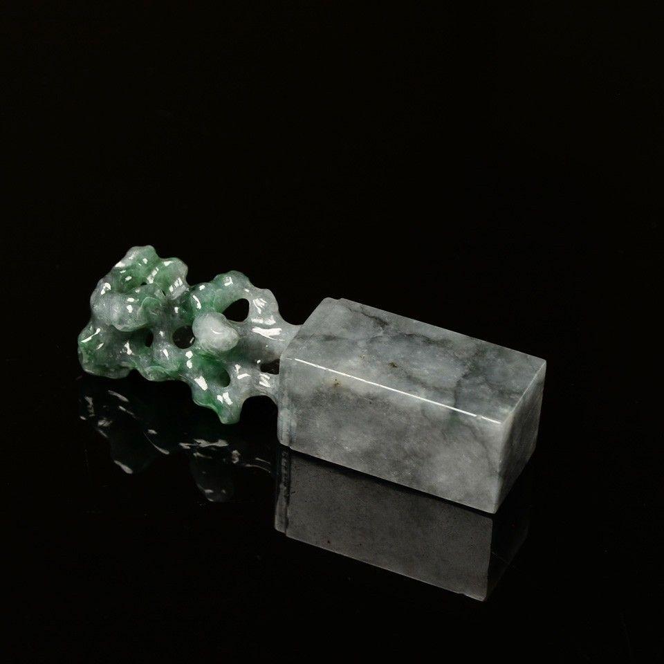 翡翠玉雕 太湖石・印章